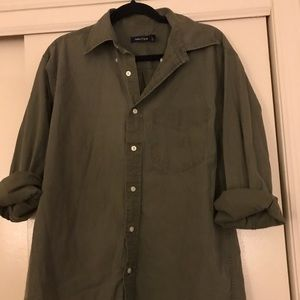 Vintage Nautical Kelly Green Button Up